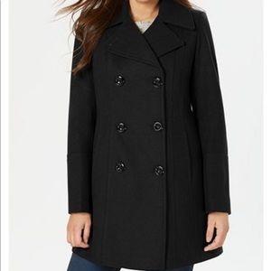 Calvin Klein peacoat wool women's size 6 Black